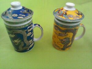 Chinese Tea Mug Infuser and Lid