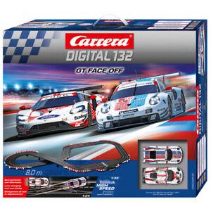 Carrera Digital 132 30012 GT Face Off - Porsche GT vs Ford GT 1/32 Slot Car Set