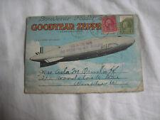 1931 Goodyear Zeppelin Corp Souvenir Folder Post Card Mailer  postally used