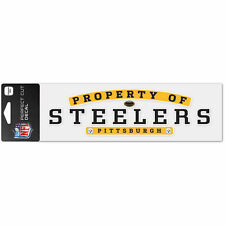 Pittsburgh Steelers 3x10 inch Property of Steelers Ultra Decal NFL Licensed item