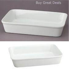 Pan Dish Baking Lasagna Oblong Rectangular Roasting Quistgaard Porcelain White