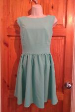 Miss Selfridge Mint green Skater Party occasions Dress UK 8