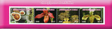 Congo 2017 CTO Mushrooms & Orchids 4v M/S Flowers Fungi Nature Stamps