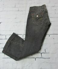 Authentic True Religion Twisted Seam Flare Bell Bottom Jeans Off Black Size 26