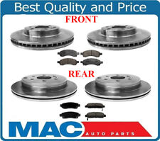F & R Disc Brake Rotors and F & R Ceramic Brake Pads for 07-16 Acadia Traverse