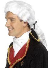 Parrucche e barbe bianchi Smiffys per carnevale e teatro, a tema abiti nazionali