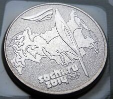 RUSSIA 25 RUBLES 2014 THE SOCHI WINTER OLYMPIC GAMES TORCH # 465