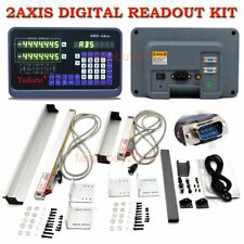 Precision 2 Axis Digital Readout Linear Glass Scale DRO Display Milling Lathe