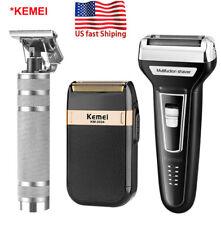 Rechargeable Electric Hair Clipper Shaver Beard Razor Trimmer Men Shaving Kit US