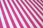 HOT PINK CABANA STRIPE BEACH POOL CIRCUS OILCLOTH VINYL SEW CRAFT FABRIC BTY