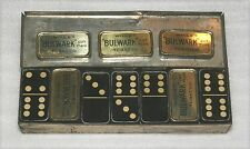 "1900'S WILL'S BULWARK TOBACCO ""DOUBLE SIX"" TIN DOMINO SET, RARE ADVERTISING SET!"