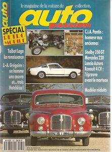 AUTO PASSION 65 HOTCHKISS GREGOIRE BELLASI F1 1970 TALBOT LAGO SPORT 2500 1955