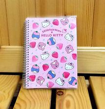 Sanrio Hello Kitty X Little Twin Stars Small Spiral Notebook Strawberries - A