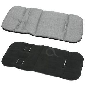 Pram stroller buggy LINER INSERT soft washable universal  Grey Melange - black