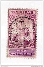 Trinidad 1901/06 5 Shillings Perfin Fine Used SG132 X2473
