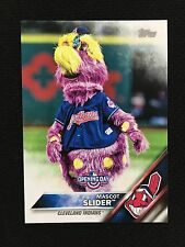 "CLEVELAND INDIANS MASCOT INSERT ""SLIDER"" OPENING DAY TOPPS 2016 BASEBALL CARD"