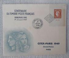 enveloppe premier 1 er jour ceres centenaire du timbre 1849-1949