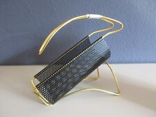 Midcentury Flaschenhalter-STIL NOVO-true 50/60's Design-Lochblech-Messing