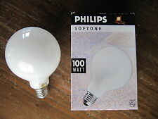 NEU PHILIPS SOFTONE GLOBE G95 E27 100W SOFT WHITE OPAL weiß ø 95mm BELLALUX