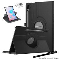 Housse Etui Noir pour Samsung Galaxy Tab S6 10.5 2019 T860 Support Rotatif 360°