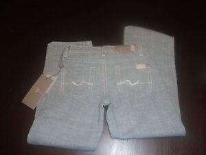 7 For All Mankind Boys Jeans Standard Fit Light Blue Denim Sz 4 Adjustable Waist