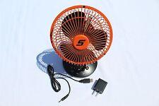 Snap On Tools LED Orange Fan/Clock KAFANPJK