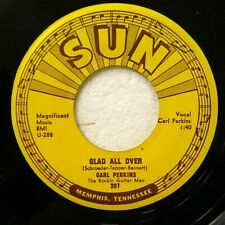 CARL PERKINS 45 Glad all over / Lend me your comb SUN rockabilly VG++  #1030