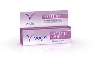 Vagisil Medicated Cream Fast Relief From Feminine Itching, 30 g