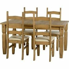Wooden Rectangular Table & Chair Sets with 4 Pieces