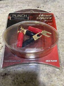 rockford fosgate punch crimp spades 8 Gauge gold plated