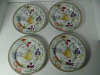 """Dansk Umbrian Fruits Set of 4 Dessert Salad Plates 8 3/4"""" Portugal"""