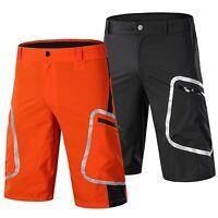 Men Cycling Mountain Bike MTB Bicycle Baggy Shorts Pants Casual Zipper Pocket US