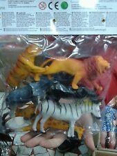 Kit busta animaletti della savana leone  gioco ottima qualita giocattolo toy