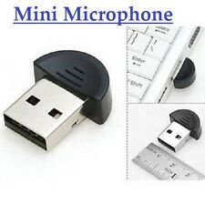 USB Plug Small Mini Desktop Studio Speech Recording Microphone F Skype Msn Video