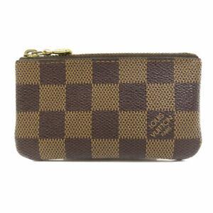 LOUIS VUITTON  N62658 coin purse Pochette Cle Damier Ebene Damier canvas