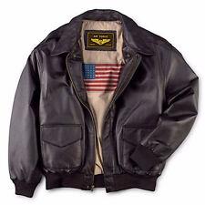 Men's Leather Flight/Bomber Coats & Jackets | eBay
