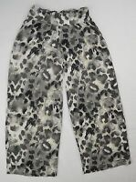 Girls Youth Justice Gray Leopard Print Stretch Pants Size 7 J-T-P