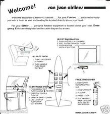 Safety Card - San Juan - Cessna 402  (S3646)