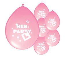 "10 x ""HEN PARTY"" LIGHT PINK BALLOONS (PA)"
