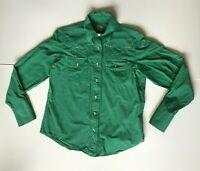 Cruel Girl Womens Green Checked Pearl Snap Sz M Western Rodeo Shirt Long Sleeve