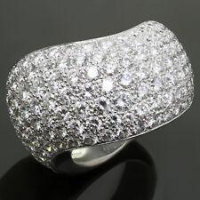 CARTIER Paris Nouvelle Vague Pave Diamond 18k White Gold Large Ring Size 52