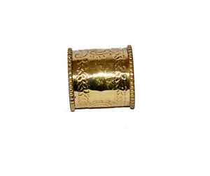 Antique vintage brass napkin holder nautical collectible home napkin ring gift