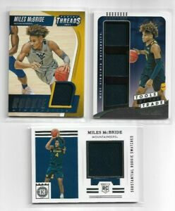 2021/22 Chronicles Draft Miles McBride Rookie Jersey Lot of 3 Threads Encased