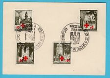GERMANY General Gouvernement postcard 1940 Warschau Red Cross set + cancel