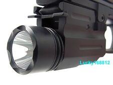Tactical 300Lm Cree Flashlight/light For Pistol/Glock Weaver/Picatinny Rail #15