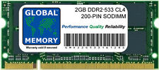 2 GB DDR2 533 MHz PC2-4200 200-PIN SoDIMM Memoria RAM PER NOTEBOOK/NETBOOK