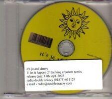(DF29) It's Jo And Danny, Let It Happen - 2003 DJ CD