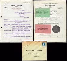 █ Lot Pubs 1925 Emile Lehrner à Paris Rue Saint-Lazare pour produits METAFFINE █