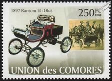 1897 RANSOM ELI OLDS/OLDSMOBILE CURVED DASH RUNABOUT voiture TIMBRE