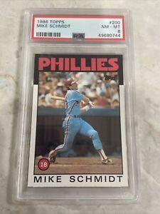 1986 Topps Mike Schmidt PSA 8 Phillies #200